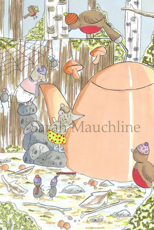 'Violet Vole' and 'Sonny Shrew' visit 'Posie Pixie' in 'Posie Pixie And The Snowstorm'