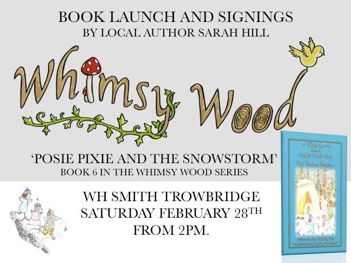 Flyer for the launch of book 6 at WHSmith, Trowbridge, 28/02/15 ?