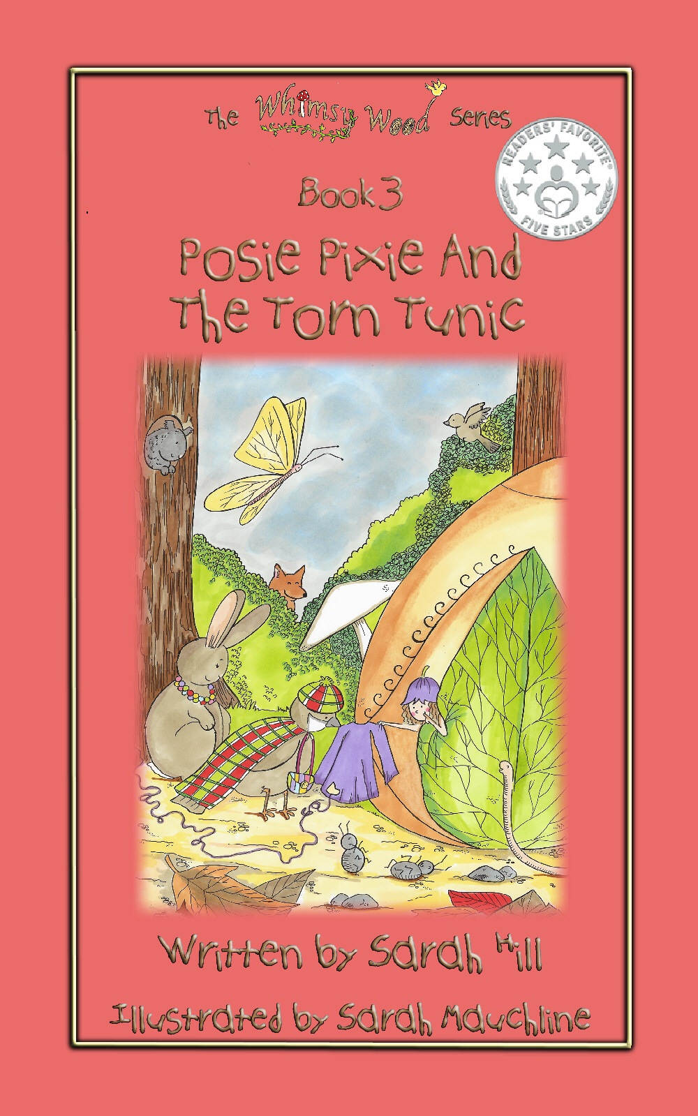 The new front cover for 'Posie Pixie And The Torn Tunic' with its 5 star award!