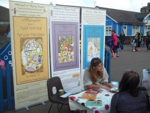 Sarah Signing Her 'Whimsy Wood' Children's Books At Knebworth Primary.