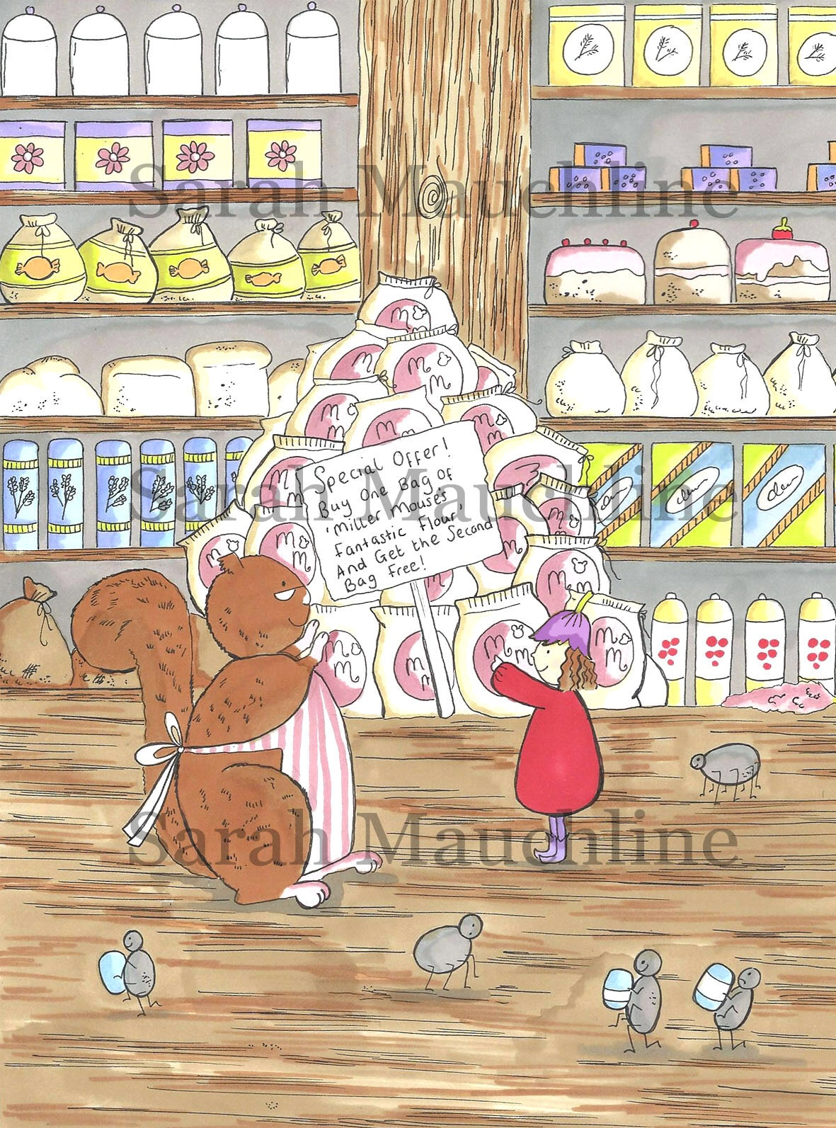 'Mrs Scarlet the squirrel' and 'Posie Pixie' in Whimsy Wood's 'Woodland Store' ?