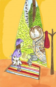 Dr Tussle the tawny owl visits poorly Posie and Wibble in book 7, 'Posie Pixie And The Pancakes'.