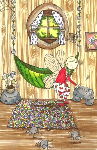 Fearne in the midst of her spring-cleaning in book 8, 'Fearne Fairy And The Dandelion Clocks'.