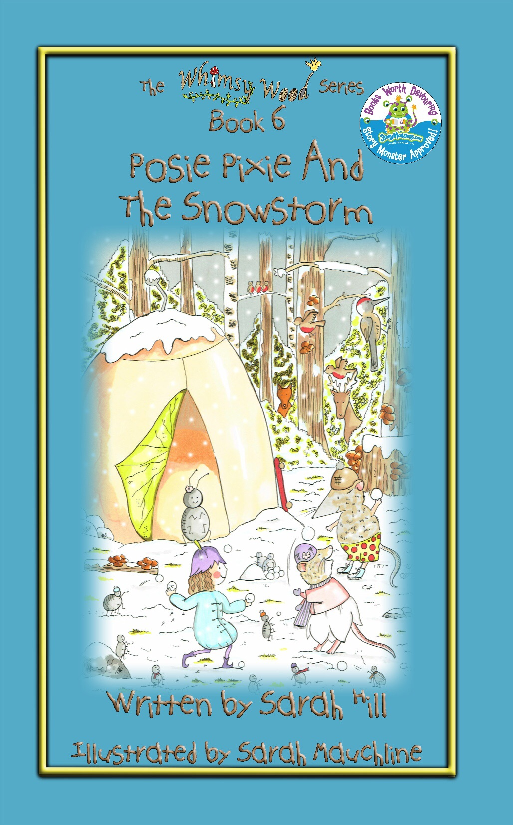 Front cover of 'Posie Pixie And The Snowstorm'!