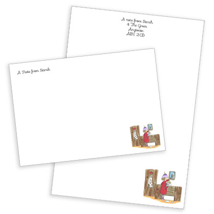 Personalised Posie Pixie Stationery Set