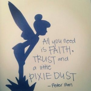 In the magical words of 'Peter Pan'....