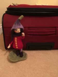'Posie Pixie' all packed and raring to go to Lapland!